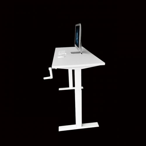 Manual Crank Height Adjustable Table Sit-Stand Desk